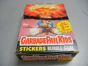 1986 Garbage Pail Kids USA GPK  5th Series partial box, 21 Wax Packs not priced