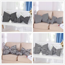 Pleasing Funky Retro Bowknot Pillow / Cushion Home Decor Stripe Checked Stars 1P