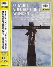 Karl Richter Bach Matthaus / Johannes Passion CASSETTE ALBUM DG Munchener Bach