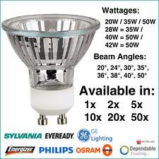 De Marque GU10 50mm 240V Halogène & Économie D'Énergie Réflecteur Spot Lampes