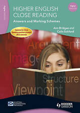 Higher English Close Reading Answers and Marking Schemes (SEM), Good Condition B