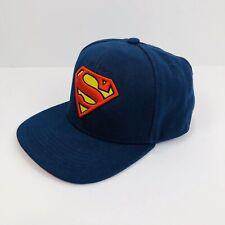 Superman Logo Snapback hat adjustable baseball cap blue Official DC Comics