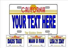 Fantaisie Numéro De Plaque,personnalisé Amusant Américain California