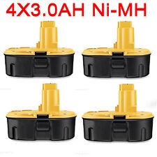 4x 18V 3.0AH NI-MH Battery For Dewalt DC9096 DE9095 DE9096 DE9099 DW9096