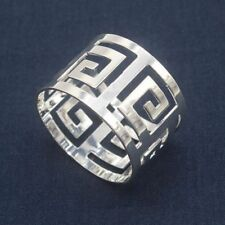 Elegance Round Napkin Rings Silver-Plated Set of 6