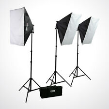 2400 Watt Continuous Studio Photography Video Studio 3 Softbox Lighting Kit Ref