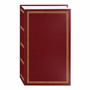 "3-ring pocket BURGUNDY album for 504 photos  4""X6"" NEW"