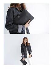 South Korea fashion retro clutch envelope handbag Black HB005-11BK
