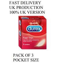 Durex Fetherlite Featherlite Ultra Thin Feel Condoms pack of 3
