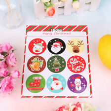 Merry Christmas Gift Kraft Sticker Cookie/Cake/Gift Labels StickerFF