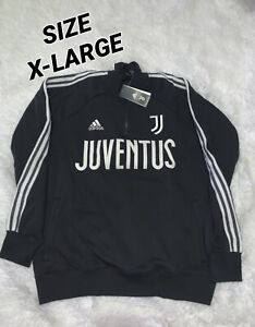 Adidas Juventus Icons Track Top Sweatshirt - Men's XL -Black/White (FR4215)