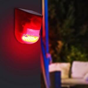 ABS Waterproof  Solar Alarm Light PIR Motion Sensor Garden Security Lamp Outdoor