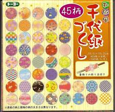 Japanese Origami Paper w/Plastic Case 45 Pattern 180 Sheet 6in #9889 S-3616 AU