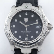 Tag Heuer Men's Stainless Steel Quartz Professional Watch w/ Leather Band WT1115