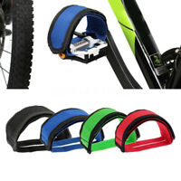 Fixie BMX Fixed Gear Cycle Bicycle  Adhesive Straps Pedal Toe Clip Strap Belt Cn