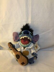 "Elvis Stitch w/ Guitar | Disney Store Exclusive | Lilo & Stitch (NWT) 8"" Plush"