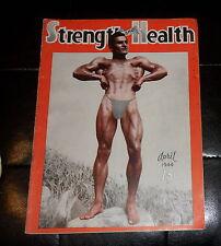 STRENGTH AND HEALTH - BODY-BUILDING MAGAZINE - APRIL 1944 - COVER: PAUL ATANASIO