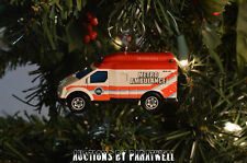 Custom City Metro Rescue EMT Ambulance Christmas Ornament 1/64th Scale Adorno