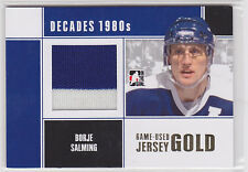 2010 10-11 ITG Decades 1980s Game Used Jerseys Gold #M10 Borje Salming /10