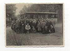 PHOTO - Snapshot - Car - Bus - Groupe - Allemagne - Drapeau Nazi - Vers 1930.