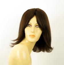 Perruque femme 100% cheveux naturel châtain ref MATHILDE 6