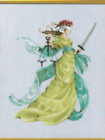 MD Mirabilia LADY JUSTICE cross stitch pattern MD 160 released October 2018