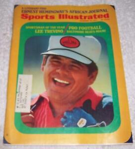 Sports Illustrated Magazine December 20, 1971 Lee Trevino Golf