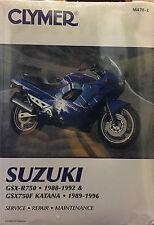 Clymer Suzuki GSX-R750 GSX750F Service Repair Maintenance Book 1988-1996