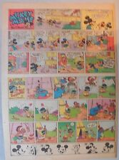 Mickey Mouse Sunday Page by Walt Disney from 9/14/1941 Tabloid Page Size