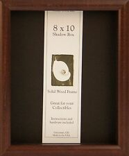 8x10 Shadow Box Elite Picture Frame - Available in Black, Cherry or Honey