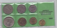 GREECE SET OF USED GREEK COINS 1982