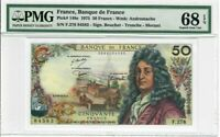 France 50 Francs Banknote 1975 Pick# 148e PMG Superb GEM UNC 68