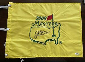Jack Nicklaus Auto Signed 2008 Masters Flag Golden Bear W/ Years Won Beckett COA