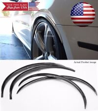 "2 Pairs Black 1"" Flexible Arch Extension Wide Fender Wheel Lip Guard For Chevy"