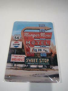 REF 139 Cartel Placa Metal 20X30CM 150gr Route 66 ruta pepsi Munger Moss Motel