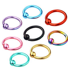 4x Captive Bead Vaginal Ring Ball Hoop Eyebrow Nipple Nose Earring Body Piercing