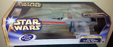 STAR WARS RED LEADER'S X-WING FIGHTER DEATH STAR TRENCH LARGE SCALE SHIP +FIGURE