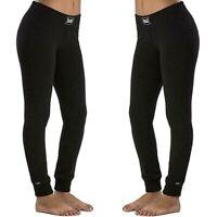 EVERLAST Pantalone da donna taglia XL sport felpa inverno leggings joggers nero