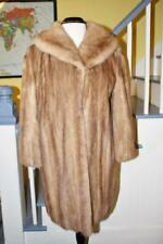 Beautiful Vintage HONEY BLOND MINK Fur Coat Stroller Length Women's L