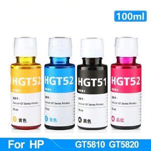 NEW 100ML Refill Dye Printer Ink Kit Inkjet  HP GT51/52 HP GT5810/5820/5810/5820