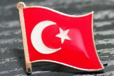 TURKEY Turkish Metal Flag Lapel Pin Badge *NEW*