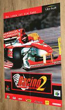 Nintendo 64 Racing Simulation 2 very rare Poster 57x80cm