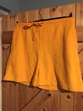 "Ladies Yellow Shorts Bright Yellow Size M Waist 30"" - 32"" Approx 10 - 12"