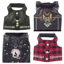 DOGGLES BIKER VEST HARNESS WITH D RING LEASH ATTACHMENT Teacup-Small Sizes