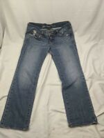 AE American Eagle Womens Size 6 Low Rise Medium Wash Distressed Jeans