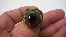 Us Army Ring Gold Finish With Red Stone Us Size 9