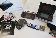Nintendo DS Lite Schwarz Handheld-Spielkonsole mit 4 Spiele + Zub. TOP Zust. OVP