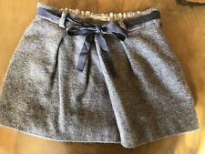 Bonpoint Paris Girls Wool Skirt With Gold Threads Size 8