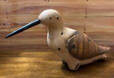 VTG Carved Wood Shore Bird Decoy Sulpture  Decorated Folk Art Primitive