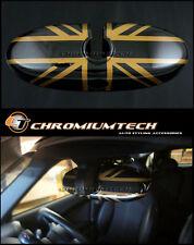 Mini Cooper/S/One R52 R55 R56 R57 R60 R61 Dorado Union Jack cubierta de espejo retrovisor